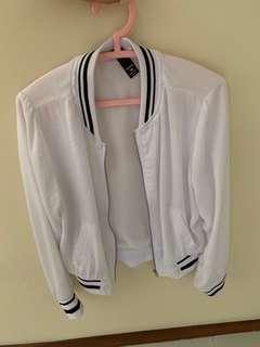 Factorie white Bomber jacket