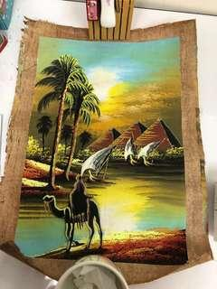 🚚 Egyptian Papyrus painting