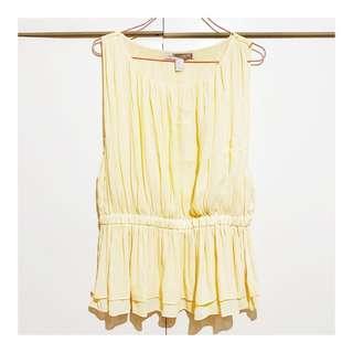 Forever 21 Yellow Sleeveless Top