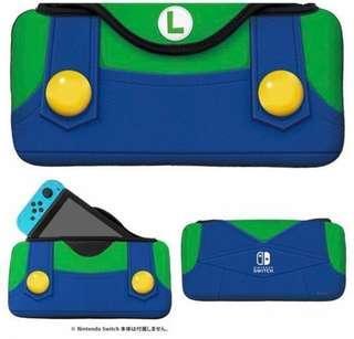 Luigi Switch 保護套 保護殼 路易 Nintendo NDS 任天堂 手提袋 收納袋 收納包 保護包 機袋 機套 機殼 加厚 海棉 防震 遊戲 手制 protector case cover 熱賣爆款 實物拍攝
