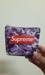 🚚 全新superme零錢包 紫色迷彩