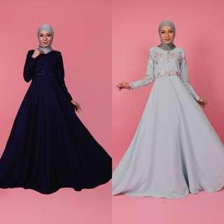 🚚 HELANA DRESS jubbah jubah abaya blouse peplum top tunic tunik