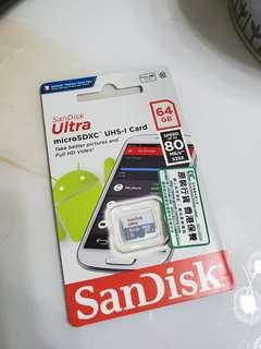 Sandisk 64GB 80MB/s Micro SD Card