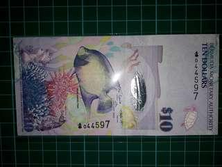 [America] Bermuda 10 Dollars Polymer Notes (2009 Series)