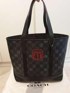 Coach West Men's Checkered Tote