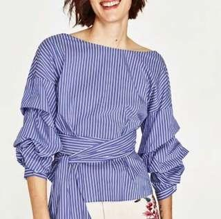 Puff stripe blouse