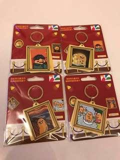 Gudetama Taiwan YoYo Card & Keychain