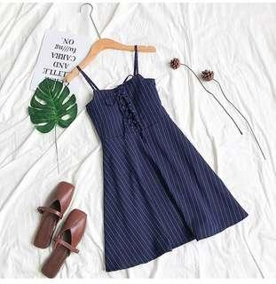 [New] Sophie Blue Stripes Dress