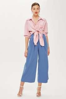 Pale Blue Floaty High Waist Culottes