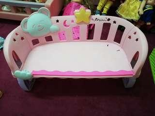 Musical chair/side bed for doll