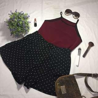 Maroon Halter Ringer Top ONLY