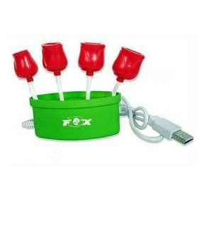 USB 4port hub Flower Shape