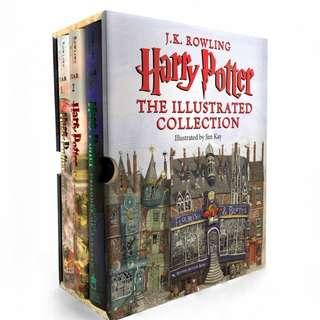 Harry Potter The Illustrated Collection : Three Magical Classics