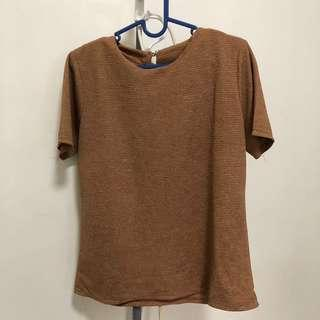 Top coklat all size