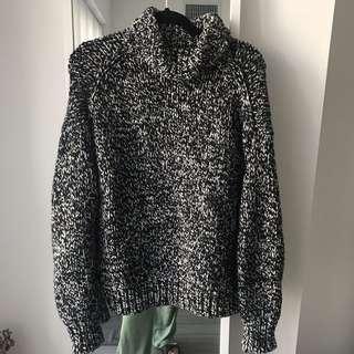 ZARA long chunky knit sweater