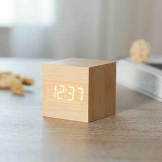 Japanese Wooden LED Clock