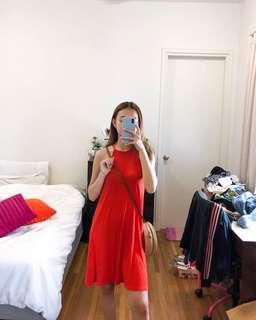 H&M Orange Halter Dress