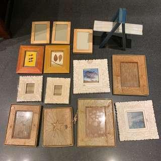 🚚 15個相框、ㄧ本筆記本、ㄧ個裝飾擺梯子,共17件。 全走540元