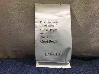 Laneige BB Cushion Refill spf 50+ no 21 cool beige 包平郵