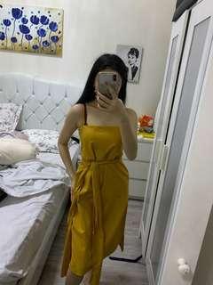 mustard dress (s-m)