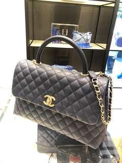 Chanel Coco Handle Large (Bnib) Navy