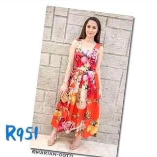 Marian Floral Dress