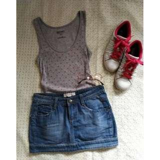 SALE preloved gray small old navy long tank top