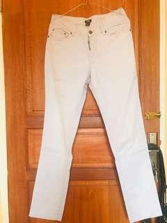 Twill Trousers H&M White-Grey