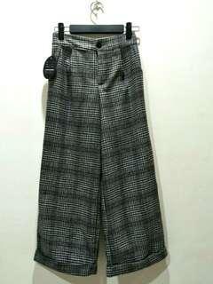 🚚 格紋寬褲