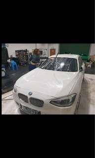 BMW 116i for rent fuel efficient with hybrid eco mode
