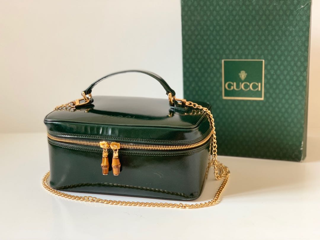 abb4f02ab74551 Authentic Gucci Bamboo Cosmetic Case Bag, Luxury, Bags & Wallets ...