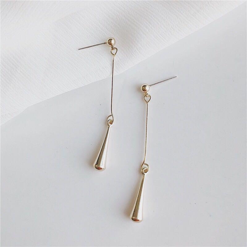 現貨》Bazaar Golden Drop 耳針 耳夾