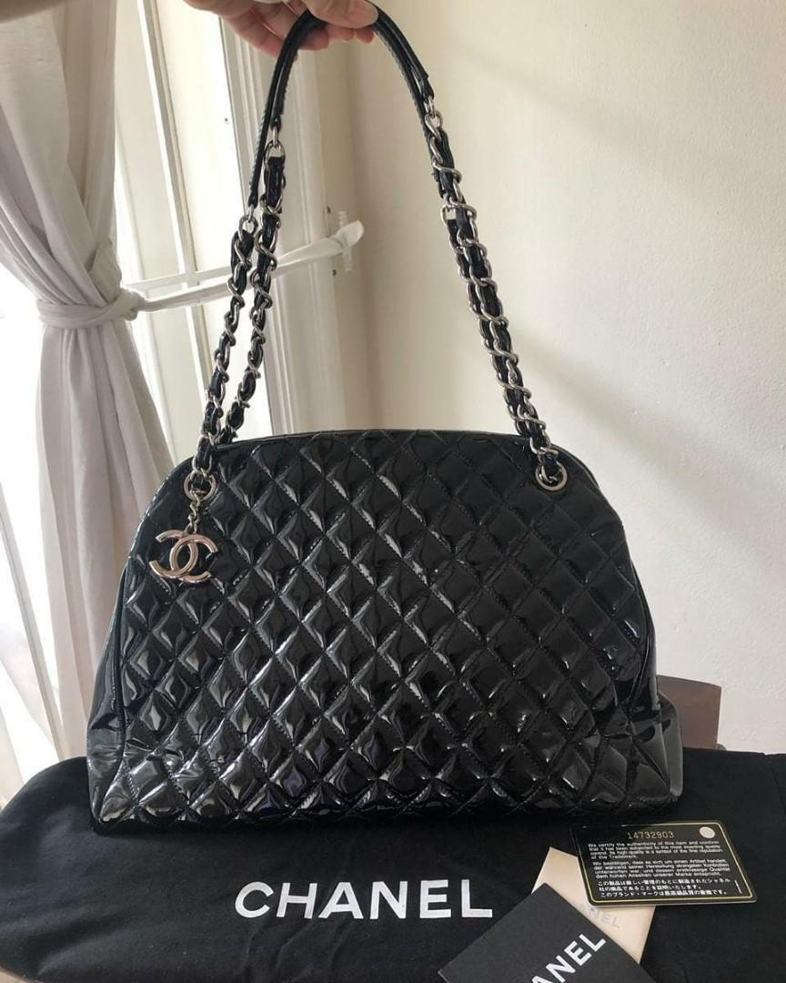 Best deal 😍 Preloved Chanel Mademoiselle  black patent leather SHW #14