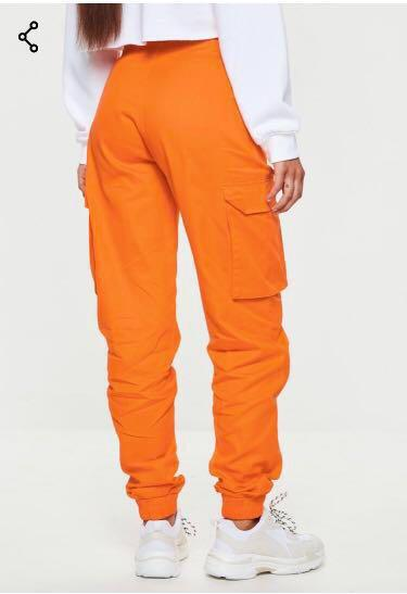 BRAND NEW Orange Plain Cargo Trousers