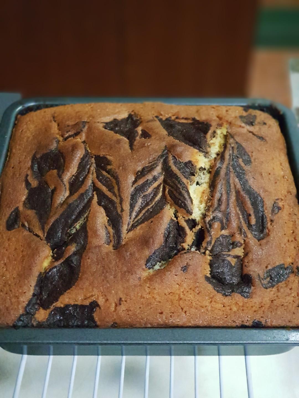 Cacao Marble Sugee Cake / Kek Suji Marble Kakao