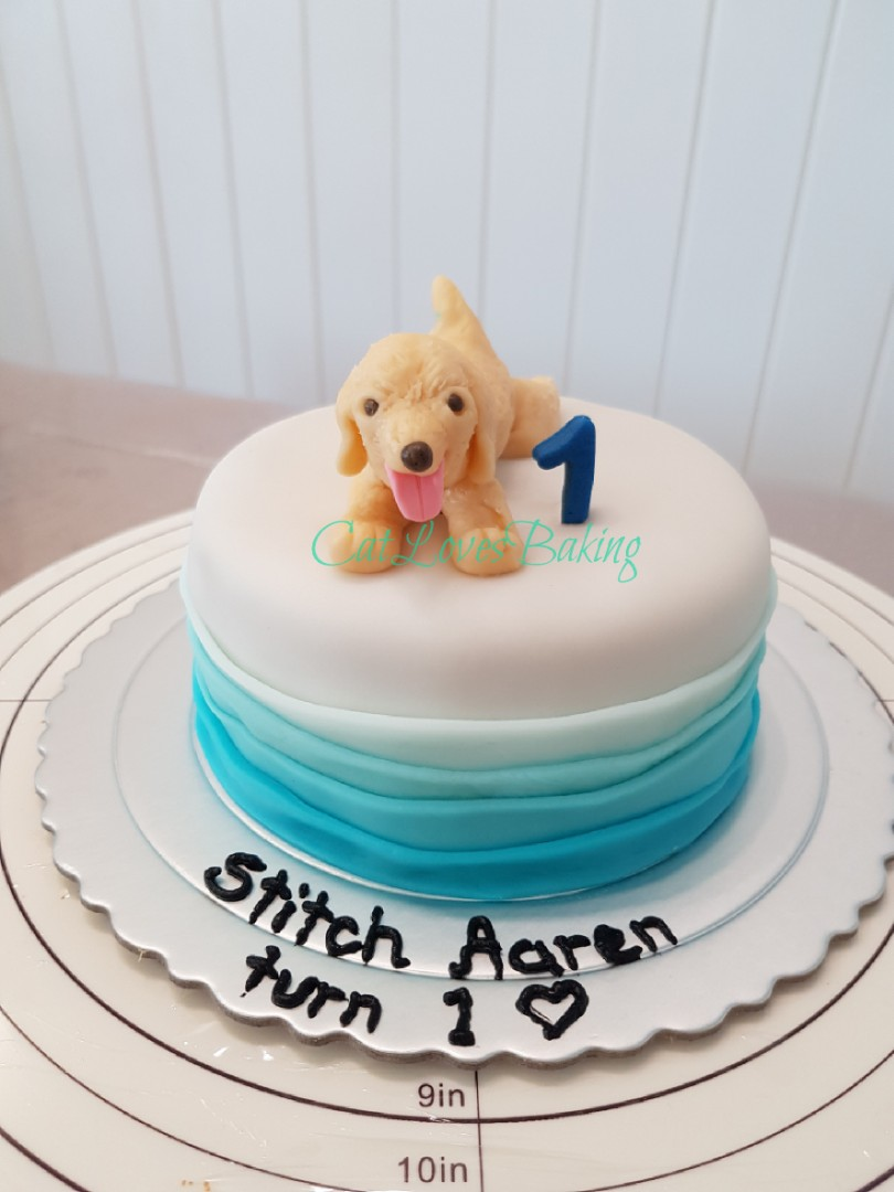 Admirable Customised Cake For Your Pet Golden Retriever Cake Food Drinks Funny Birthday Cards Online Alyptdamsfinfo