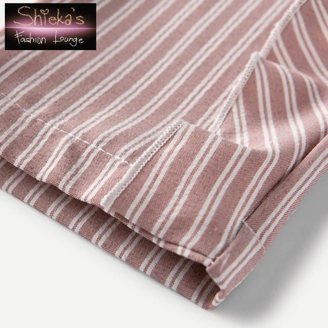Girls 2 Piece Set Ruffle Top and Ruffle Stripe Pants