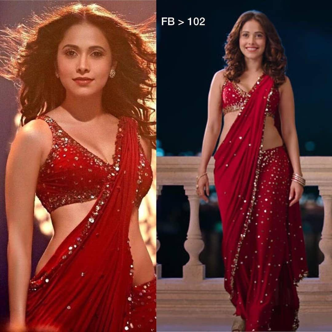 Glittering Red Wedding Wear Saree Women S Fashion Clothes Dresses Skirts On Carousell