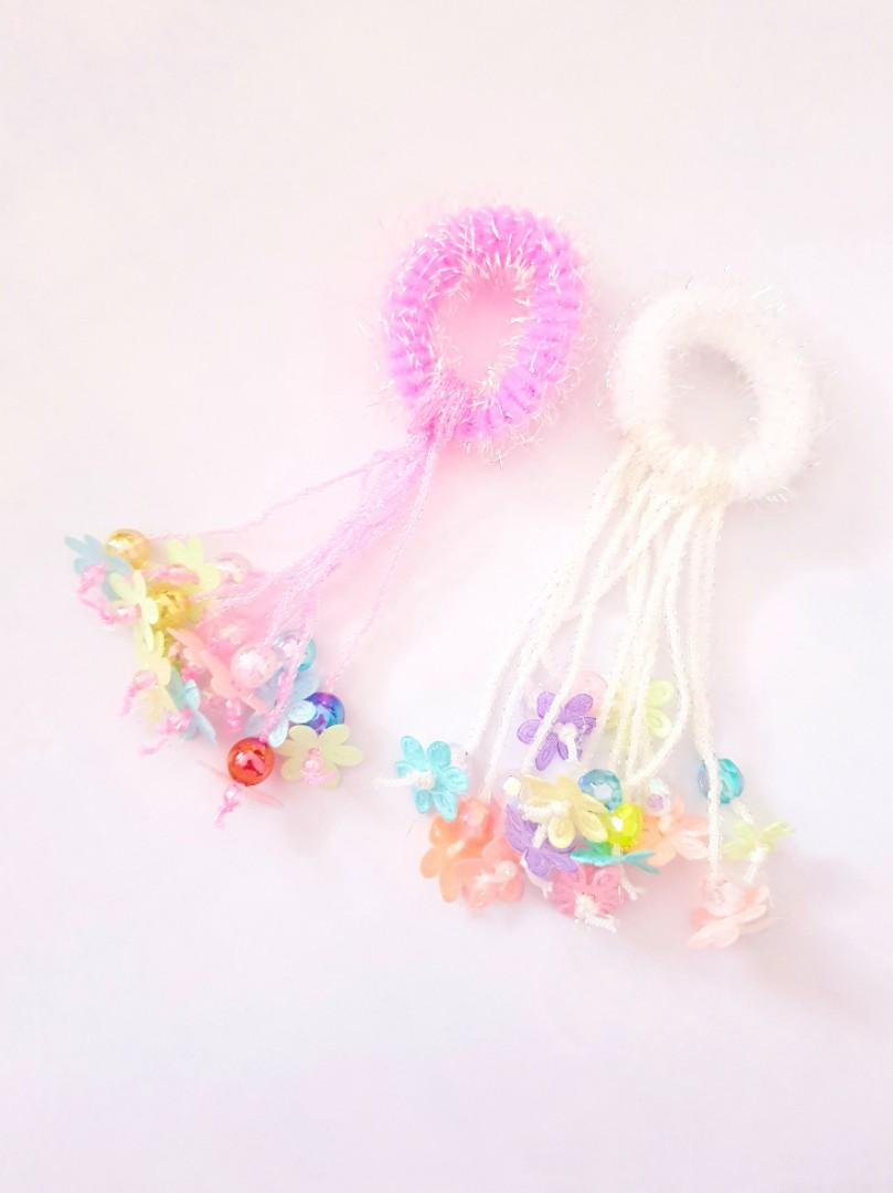 🆕️Handmade Decora Mini Hair Ties with Butterfly ends