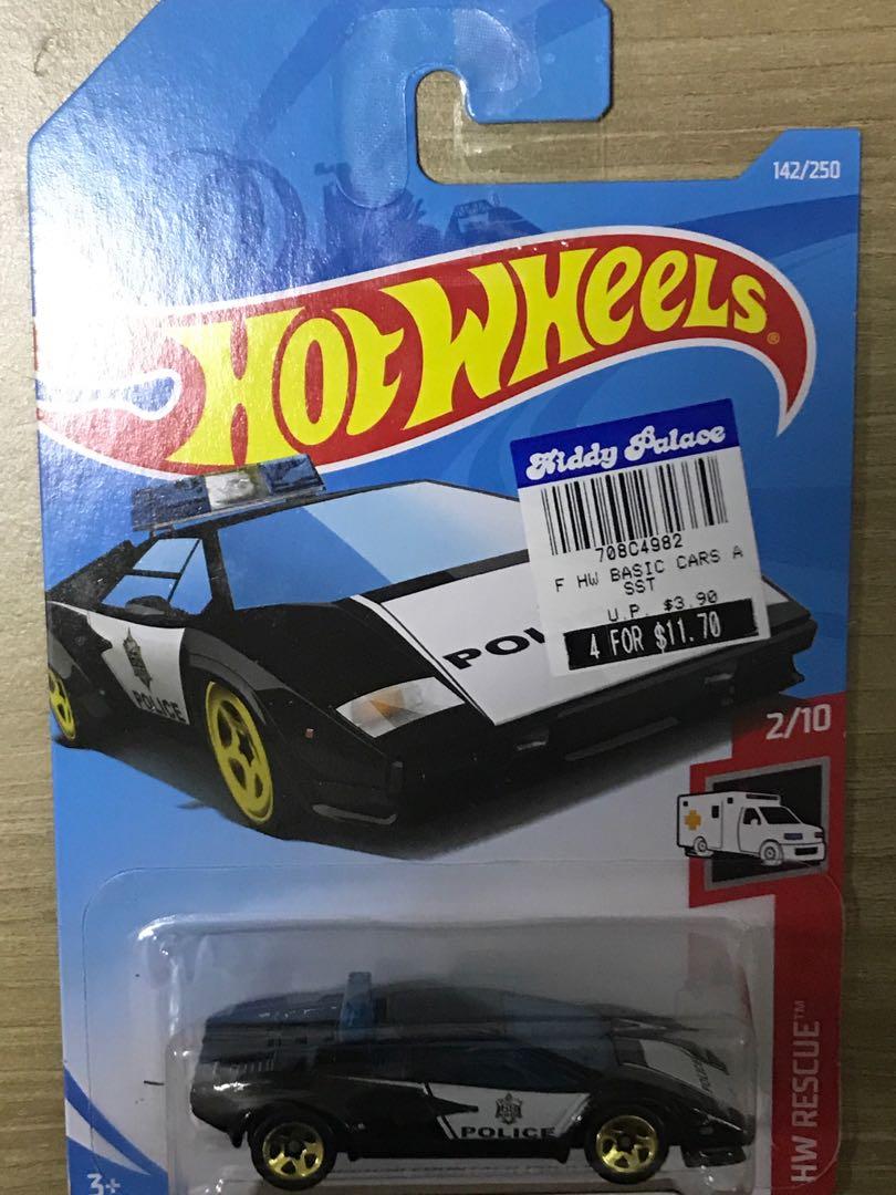 Hotwheels Lamborghini Countach Police Car Toys Games Bricks