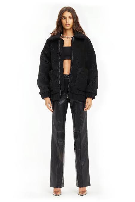 I AM GIA Black Pixie Coat