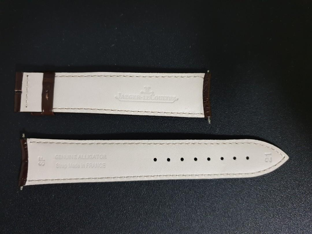 JLC alligator dark brown genuine strap