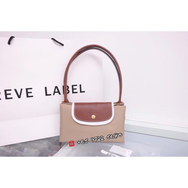 c2eaf4eafd Longchamp Le Pliage Long Handle Large Beige 1899 089 841, Luxury ...