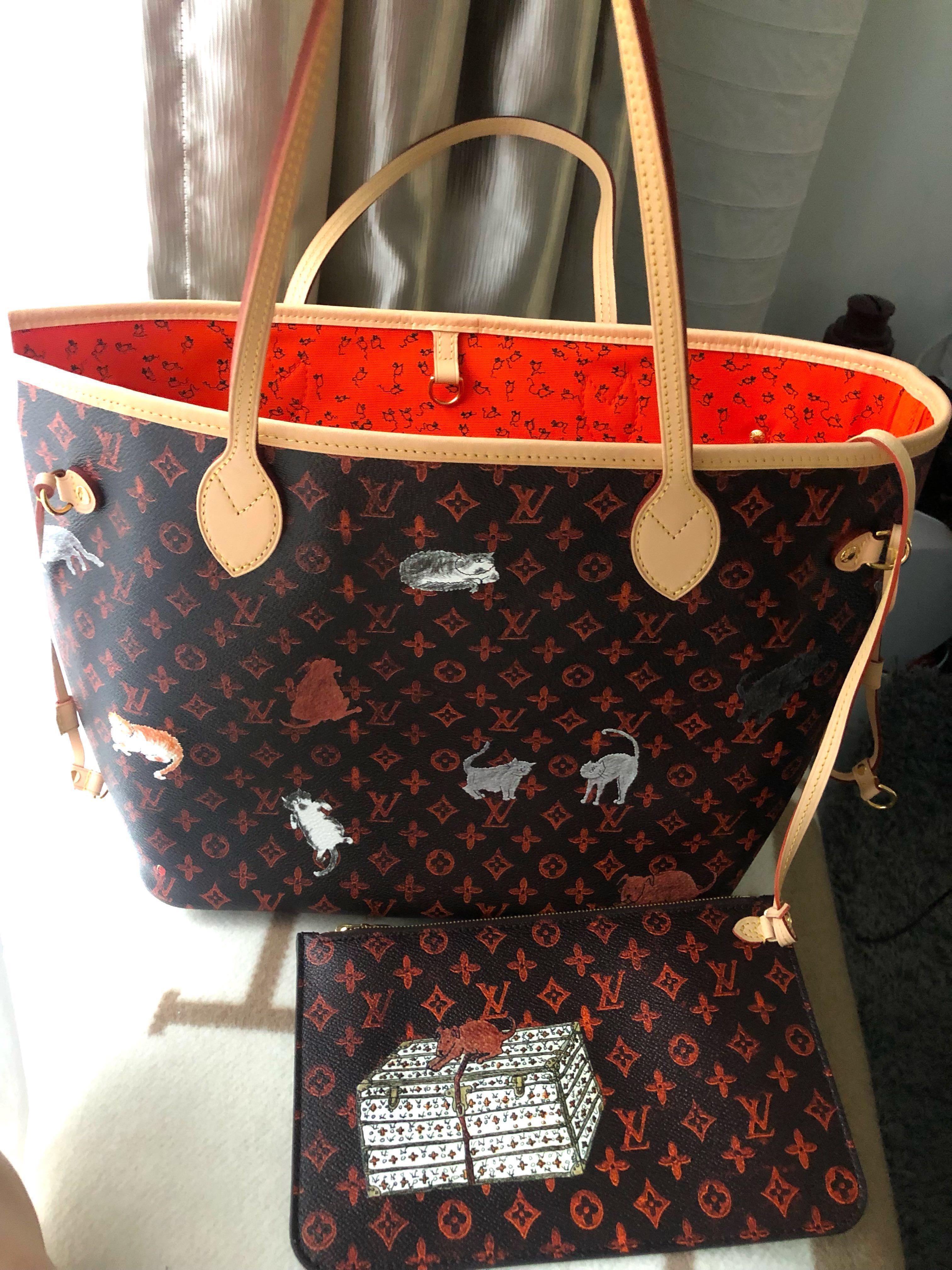 Welp Louis Vuitton Neverfull Catogram MM Grace Coddington, Luxury, Bags BF-01