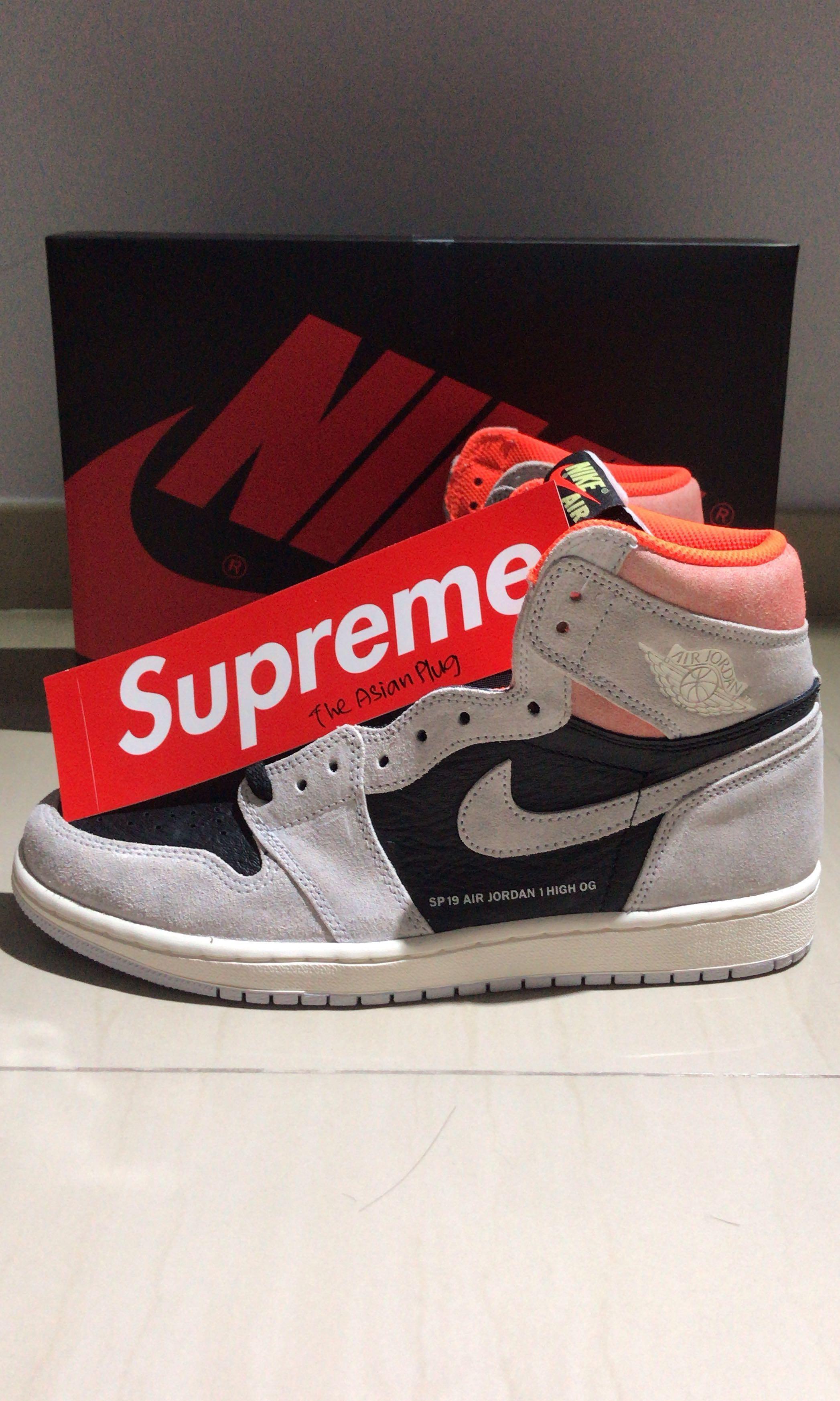 5e32a3d70c0dc0 Nike Jordan 1 Neutral Grey Hyper Crimson