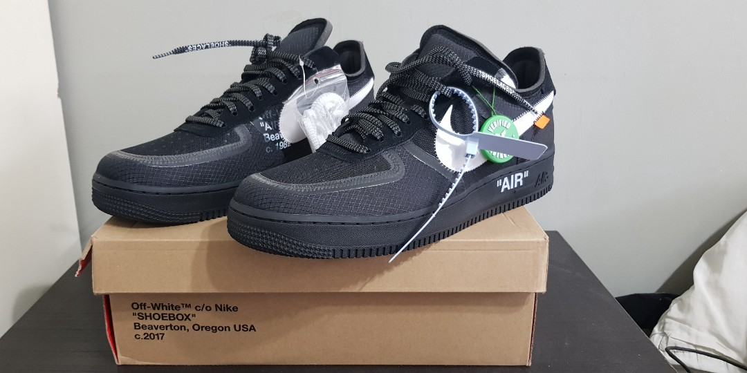 1c2856a7 Off White Air Force 1 Black, Men's Fashion, Footwear, Sneakers on ...