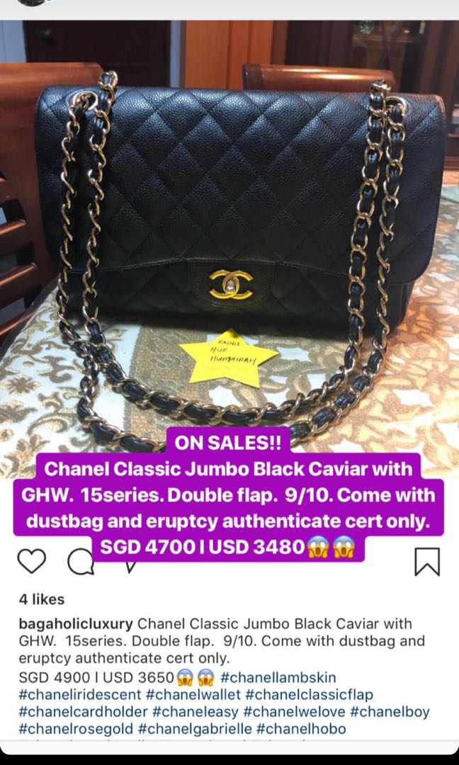 8440193c9330 ON SALES!! Chanel Classic Jumbo Black Caviar with GHW.