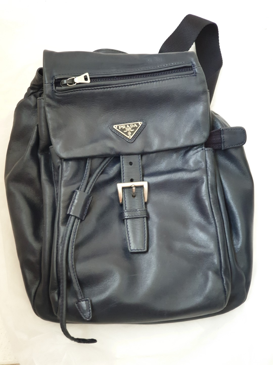 bec19e99aa27 Prada Leather Bag, Luxury, Bags & Wallets, Backpacks on Carousell