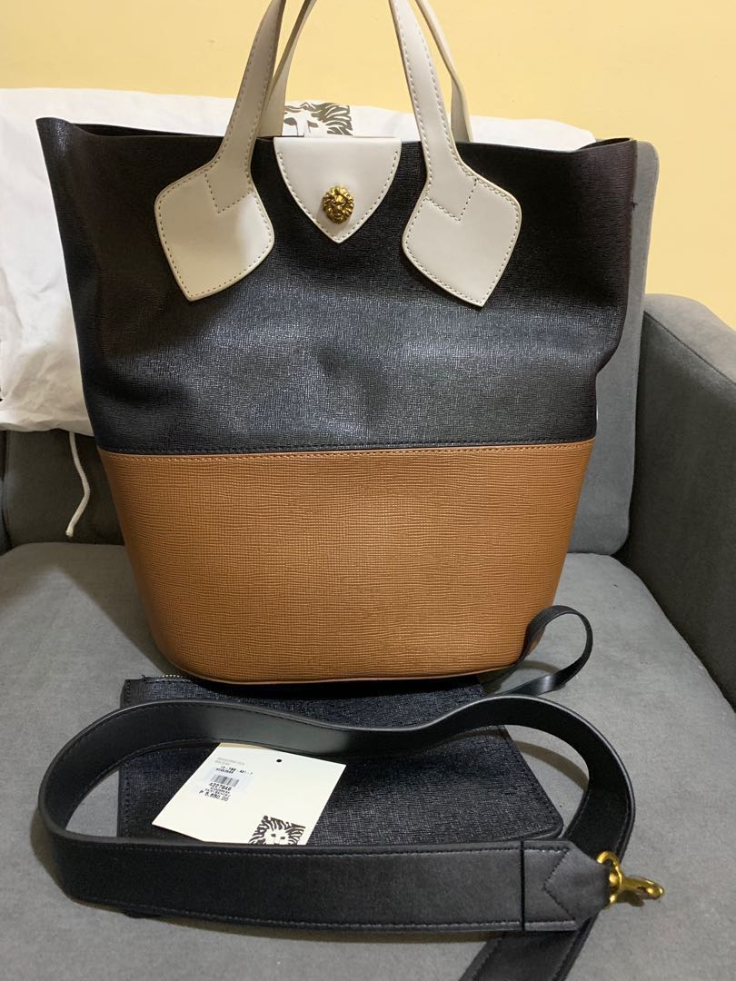 f3b6be4e9a0 Preloved Auth Anne Klein Large Color Block Bucket Bag