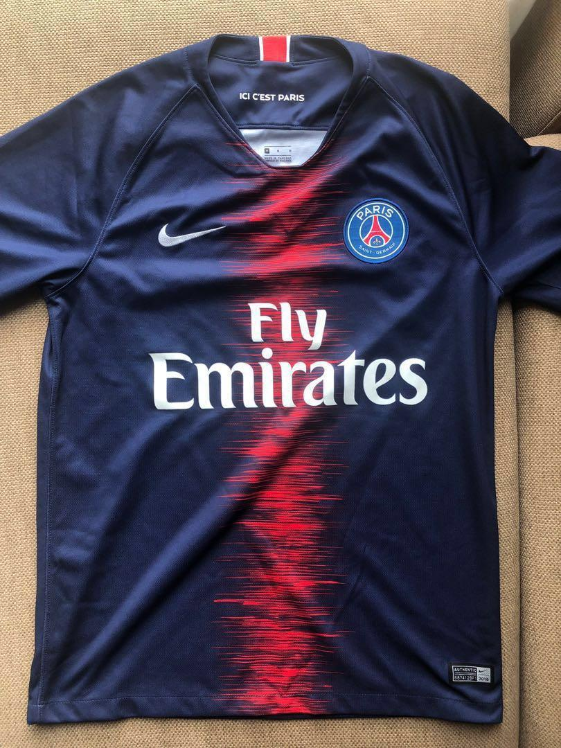 new product 0c701 73627 PSG Football Jersey 2018/19, Sports, Sports Apparel on Carousell
